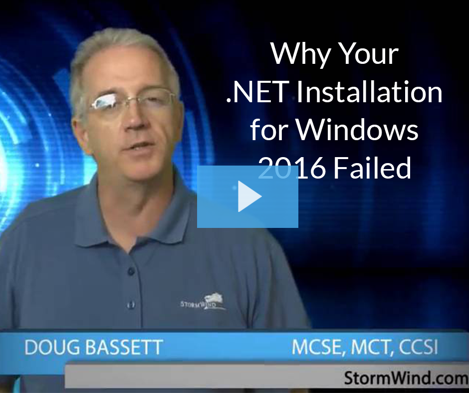 Why Your .NET Installation for Windows 2016 Failed