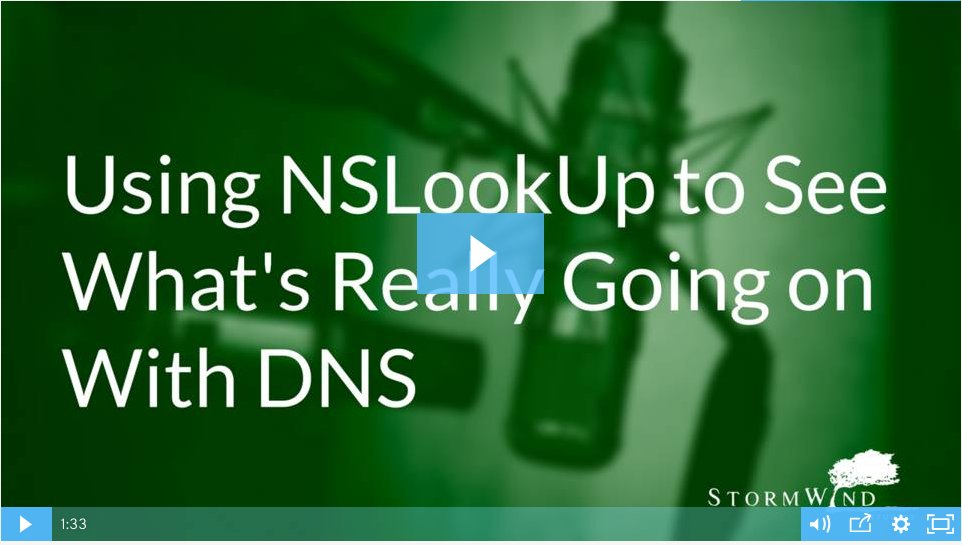 Using NSLookUp to see what's really going on with DNS