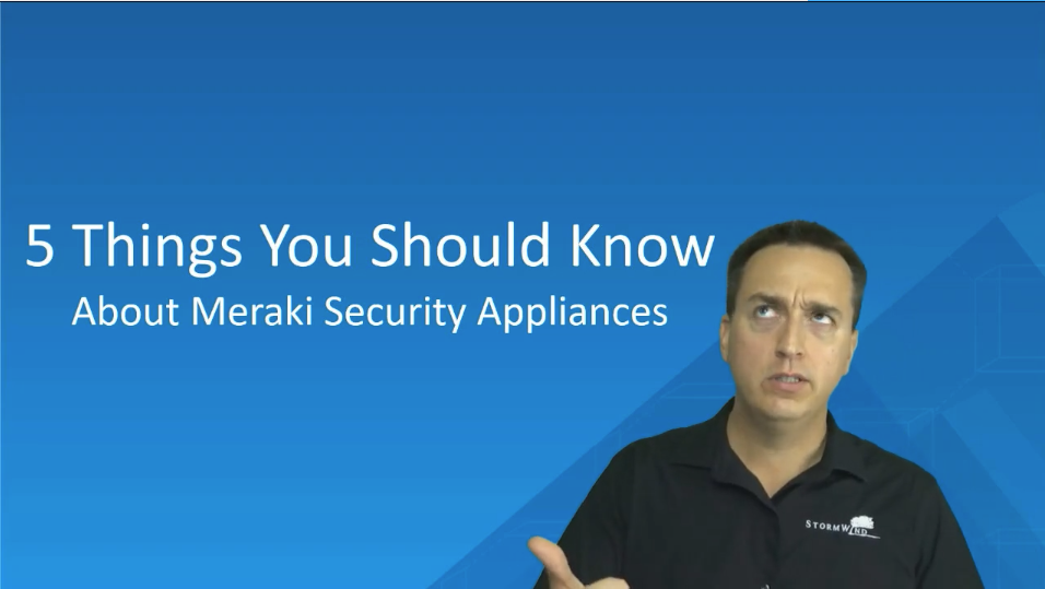 5 Things you should know about meraki security appliances